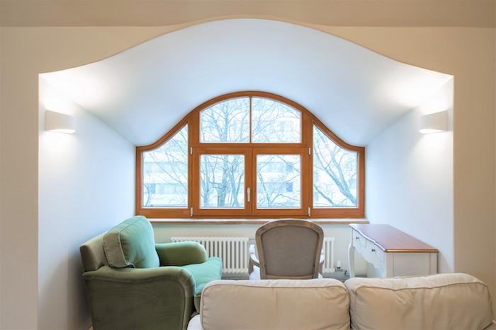 anse de panier bois, trois fenêtre fixe et une croisée 2 vantaux