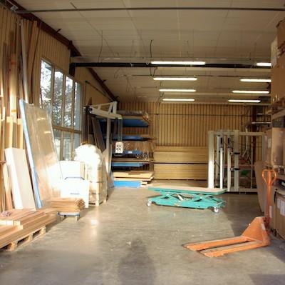 Vue de l'intérieur de nos ateliers bois